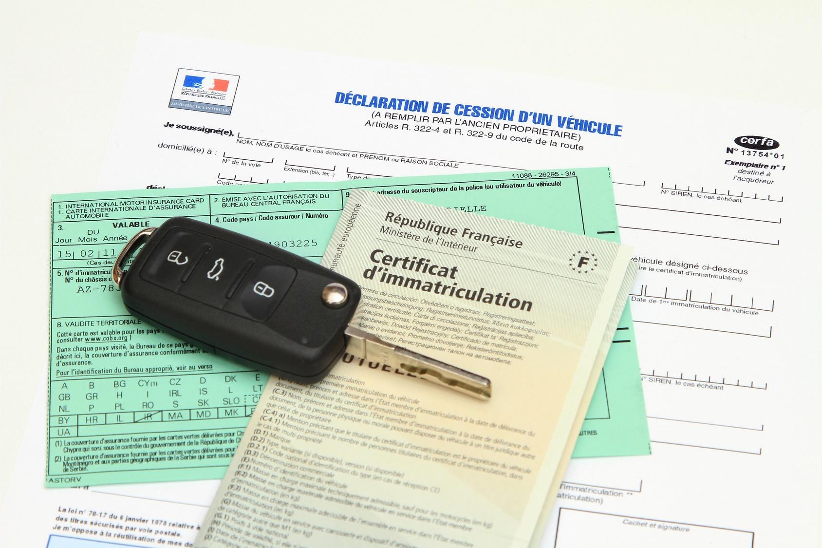 Les papiers pour l'achat d'un véhicule d'occasion