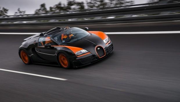 Record de vitesse pour le Bugatti Veyron
